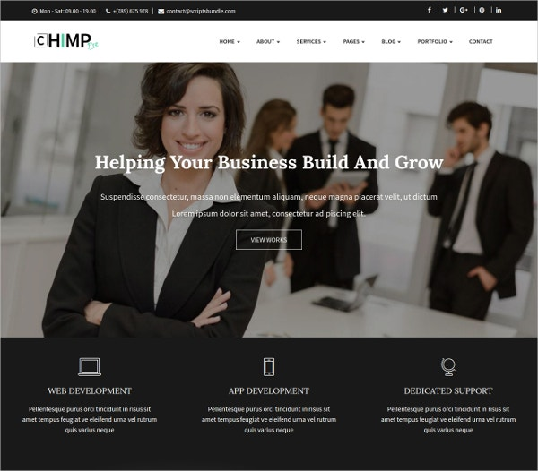Chimp Pro Multipurpose Creative Business Template