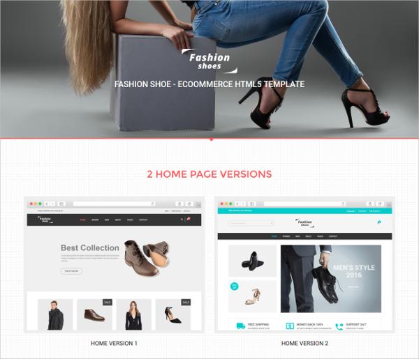 fashion shoes ecommerce shoe template