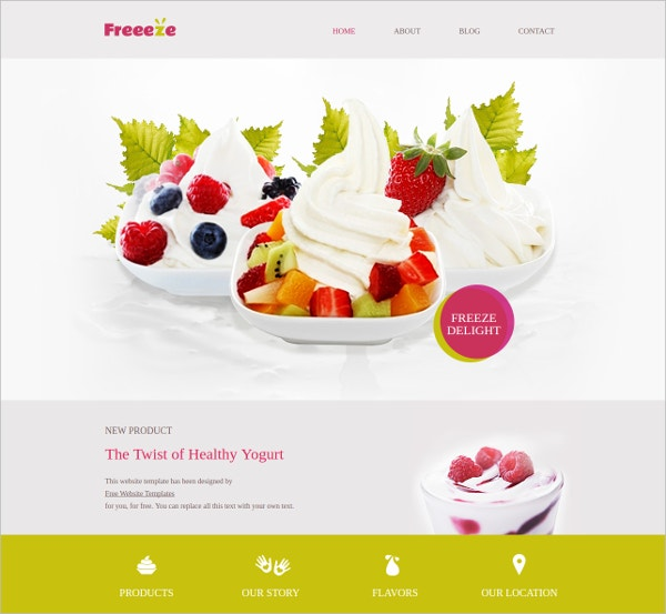 Frozen Yogurt Shop Template