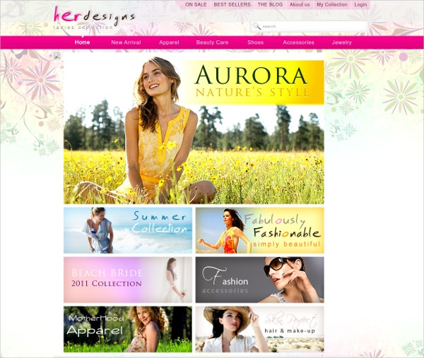 her designs free web template