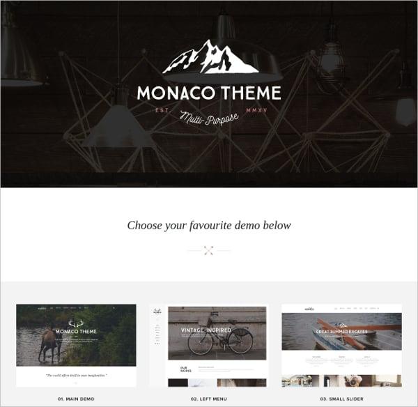 monaco %e2%80%93 vintage multi concept html template