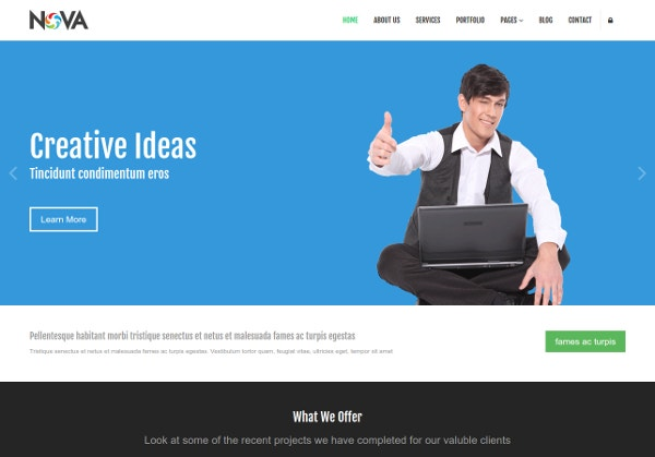 NOVA Fre Website Template