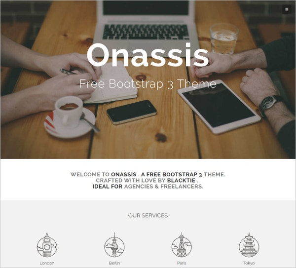 Onassis Best Boostrap Wbesite Template