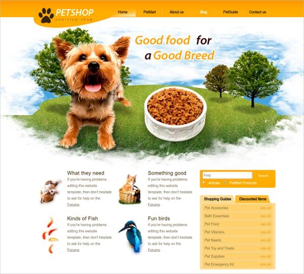 pet shop template