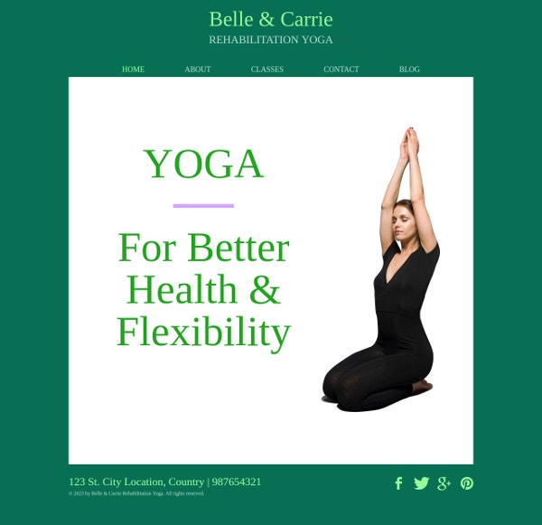 Rehabilitation Yoga Template