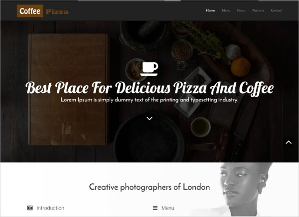 restaurant free boostrap themes template