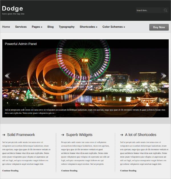 Business Portfolio WordPress Theme $35
