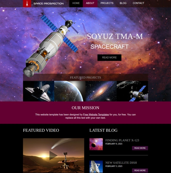 Space Science Website Template