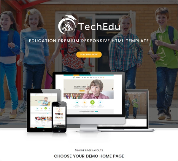 techedu education bootstrap template