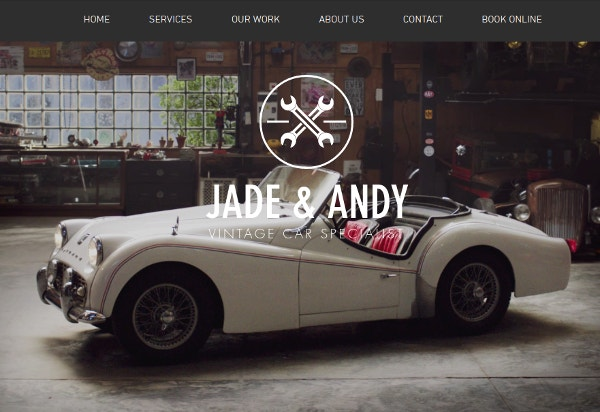 Vintage Car Garage Website Template