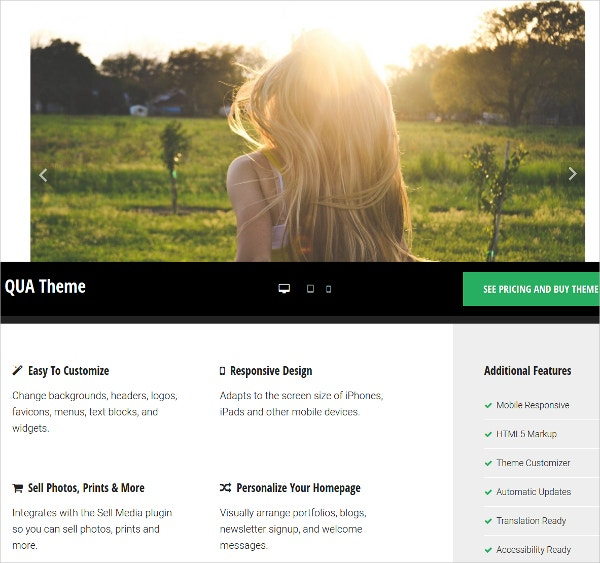 Blog And eCommerce Website WordPress Theme $99