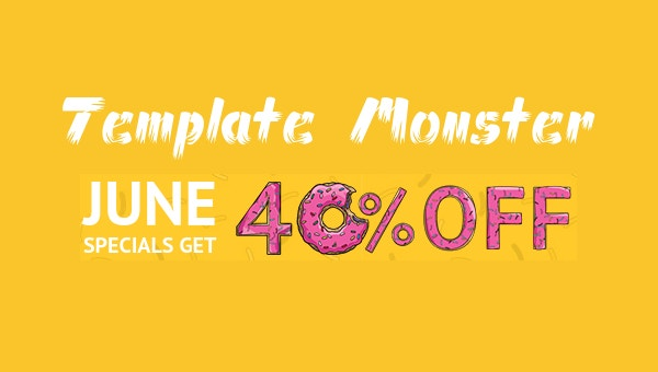 Template Monster June Special 40% Off