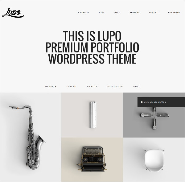 Creative Portfolio WordPress Theme $44