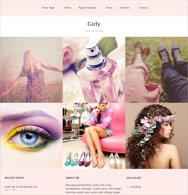 Fashion Portfolio Feminine WordPress Theme $60