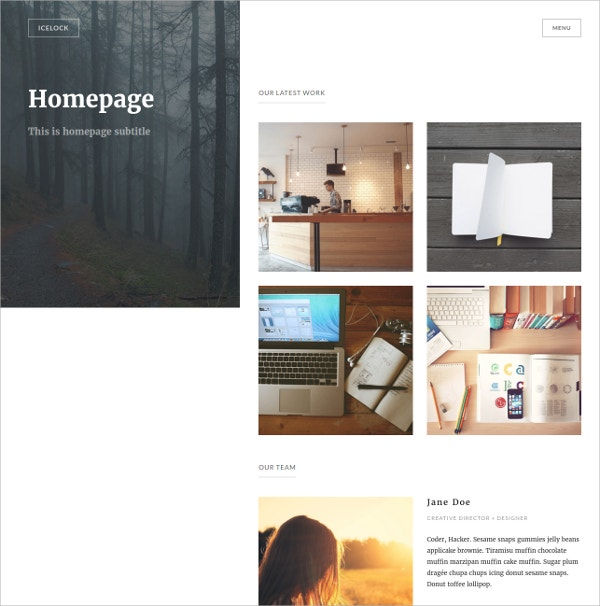 Beautiful Portfolio WordPress Theme $49