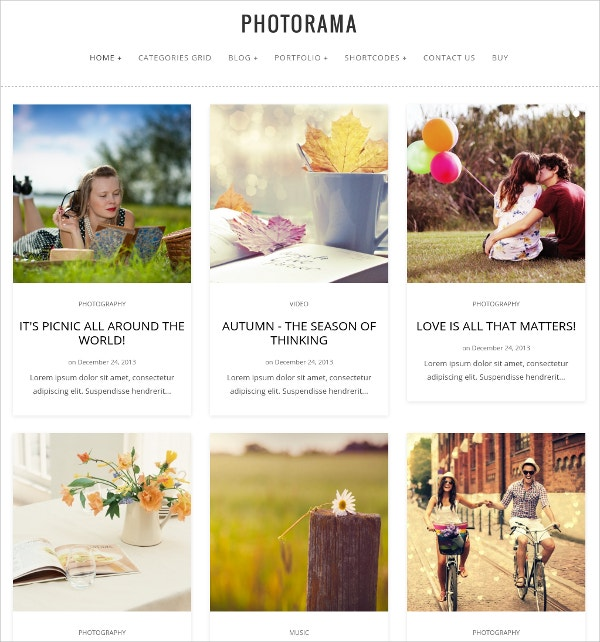 Photography Portfolio WordPress Theme $49