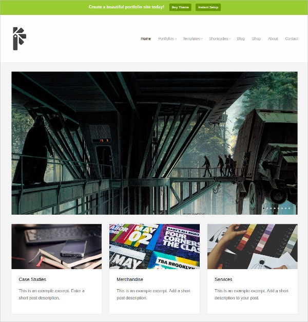 Professional Portfolio WordPress Theme $69