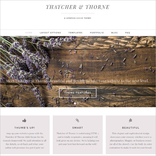Photography Feminine Portfolio WordPress Theme $50