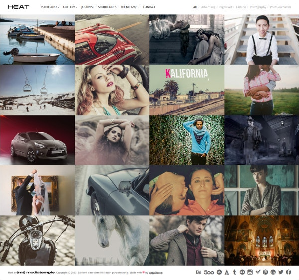 Modern Portfolio WordPress Theme $44