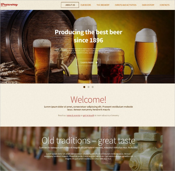 Wine WordPress Portfolio Theme $79