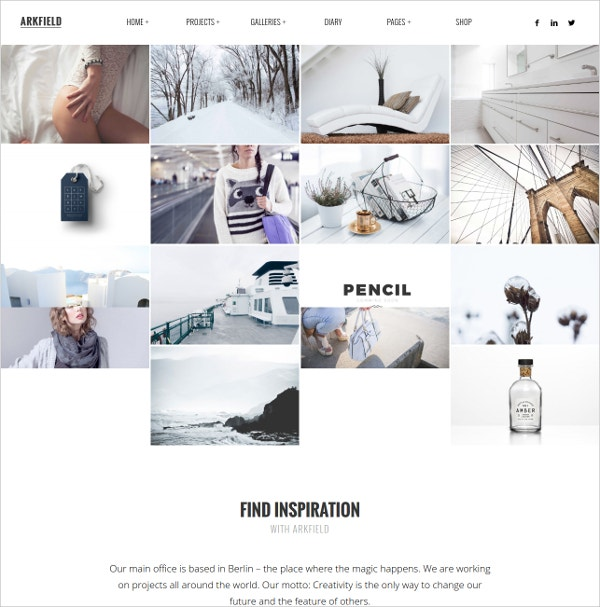 Elegant Portfolio WordPress Theme $59
