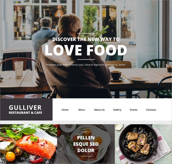 Food WordPress Portfolio Theme $75