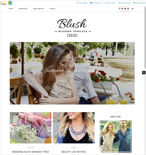 Blush Multipurpose Blogger Template