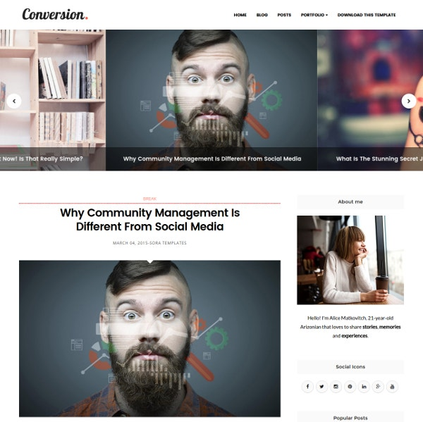 Conversion Free Blogger Template