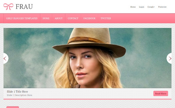 Frau Blogger Template Download
