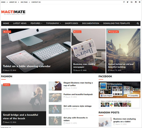 free magtimate blogger template