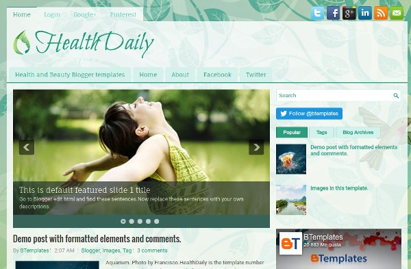 health template for blogger free download  15  Free Beautiful Blogger Templates | Free