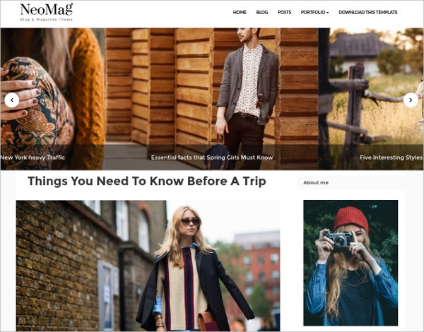 neo mag free blogger template