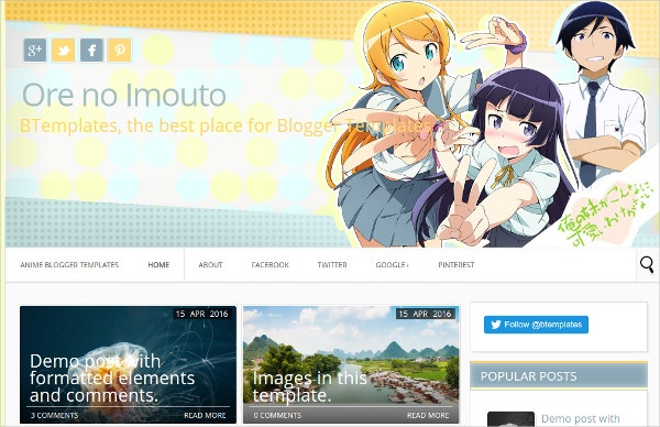 Ore no Imouto Free Blogger Template