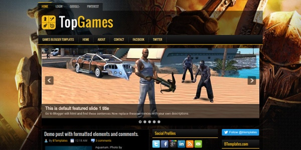 TopGames Best Free Blogger Template