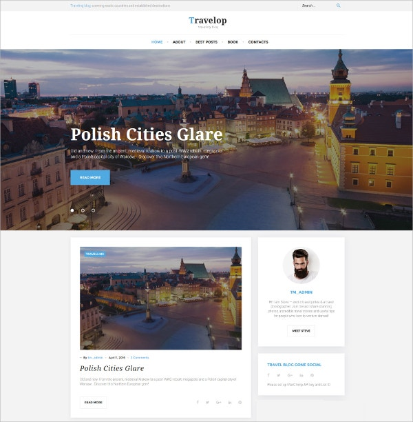 traveling blog wordpress theme 452