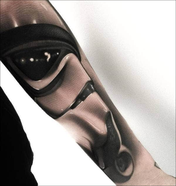 Stormtrooper Sleeve Tattoo on Arm