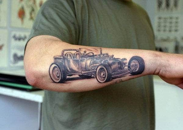 T Ford Arm Tattoo Best Design