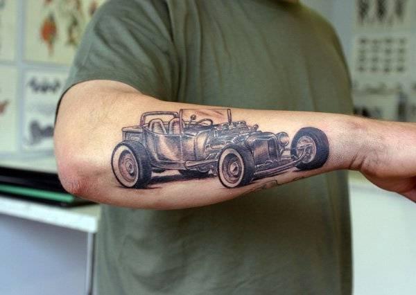 t ford arm tattoo best design