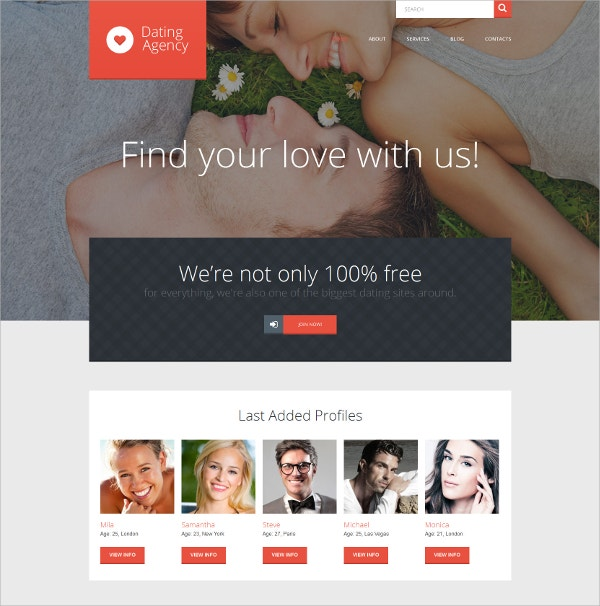 Dating & Love WordPress Theme $75