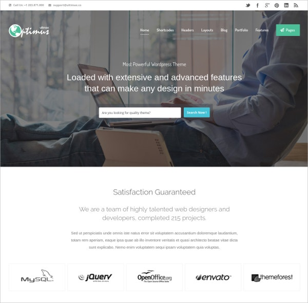 Ultimate WordPress Theme $49