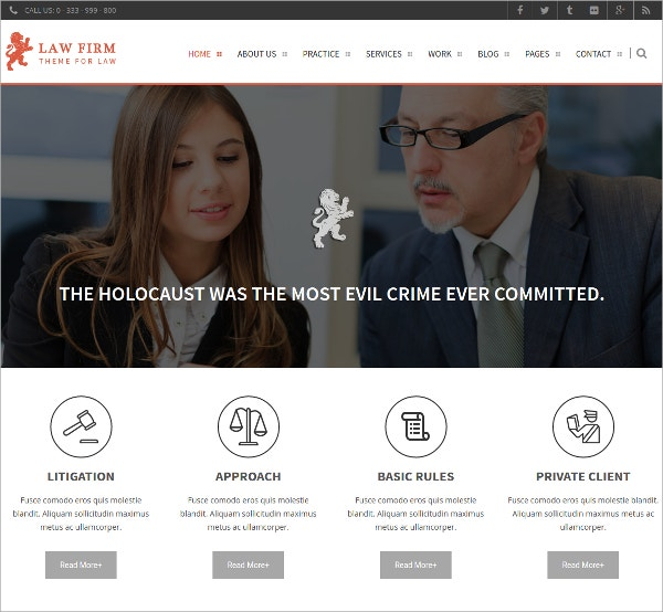 Law Firm WordPress Theme $49