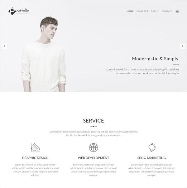 Photography Portfolio WordPress Website Theme $39