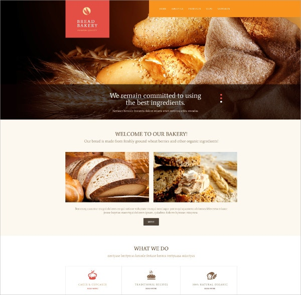 Bakery WordPress Theme $75