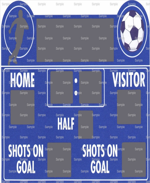 Soccer Scoreboard Template   Free Word Pdf Documents Download