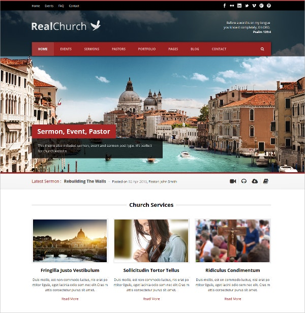 Premium Church WordPress Website Theme