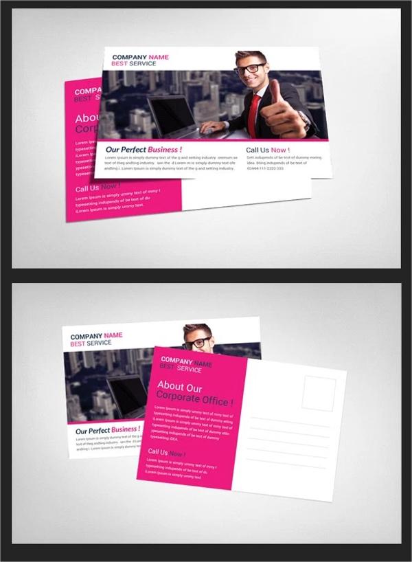 Company Postcard PSD Template