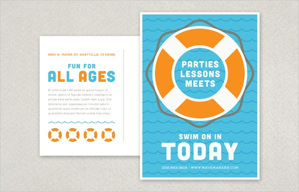 Pool Postcard Template
