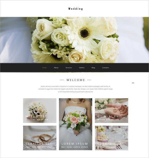 Wedding Agency WordPress Theme $75