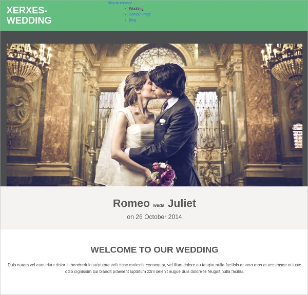 amazing wedding wordpress theme
