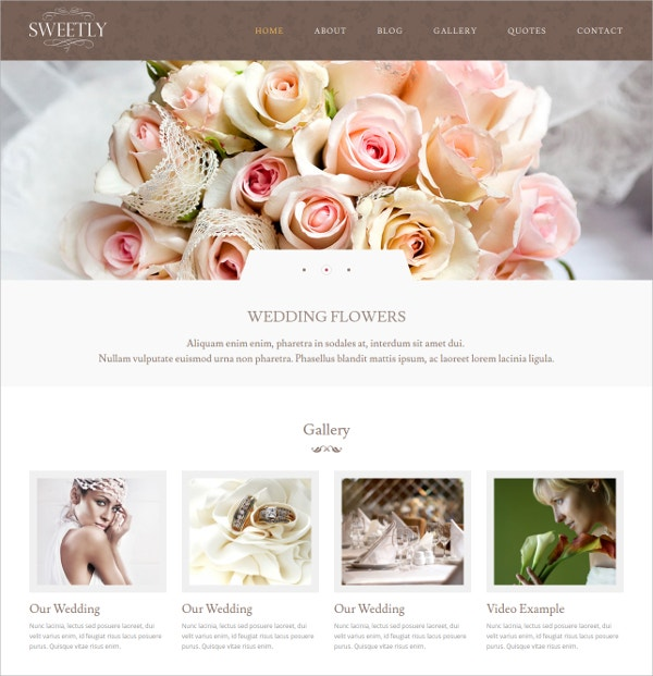 Wedding Photography WordPress Theme $44